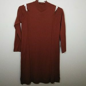 Style & CO Women's Cold Shoulder Sweater Dress